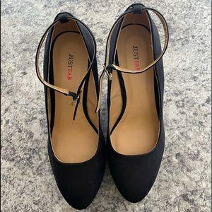 JustFab Black wedge heels size 7